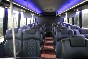 30 Passenger Mini Bus Interior