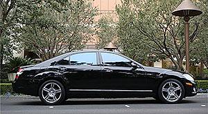 Mercedes S550 exterior