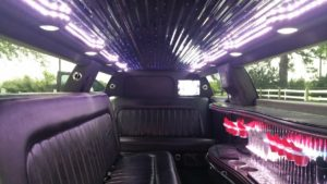 C300 stretch limo interior