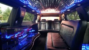 C300 stretch limo interior with lights