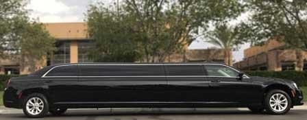 black Super Stretch Chrysler C300 Limo side view